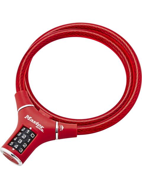 Masterlock 8229 Kabelschloss 12 mm x 900 mm rot